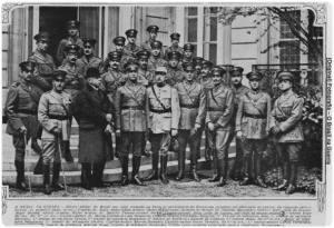 Destacamento de soldados brasileiros enviado à I Guerra. Acredita-se que os soldados disseminaram o vírus da gripe espanhola, pois foram contaminados nos campos de batalha