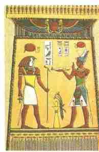 Oferenda de incenso para Osíris, deus do panteão egípcio