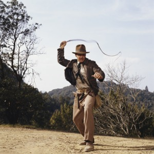 Indiana Jones, vivido pelo ator Harrison Ford. Ícone que arqueólogo aventureiro e caça tesouros
