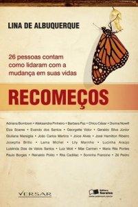 Capa do livro Recomeços, de Lina de Albuquerque