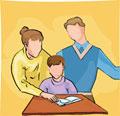 Pais ensinam dever ao filho / Fotosearch