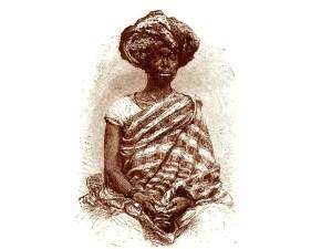 Gravura representando uma negra nagô, da Costa da Mina. Não existem imagens de Luiza Mahin, mas se como afirma Luiz Gama, sua mãe era uma negra mina, então ela devia ter um estilo de vestir e portar-se como a mulher representada nesta gravura