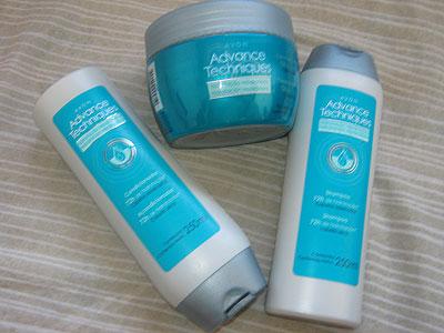 Hidratação reparadora para cabelos ressecados Advance Techniques Avon