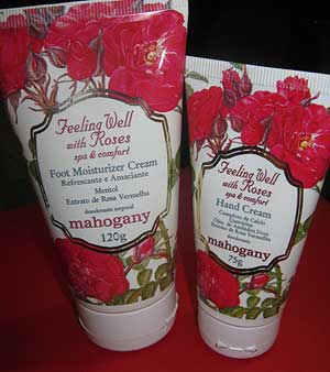 Creme para mãos e para os pés Feeling Well with Roses - Mahogany  | foto: conversa de menina