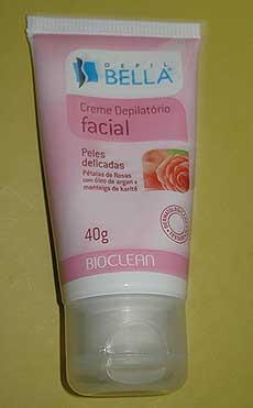 Creme Depilatório Facial Depil Bella para Peles Delicadas | foto: conversa de menina