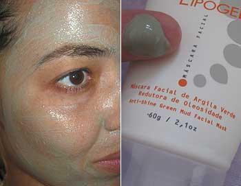 Máscara de Argila Verde Lipogel   foto: conversa de menina