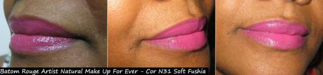 Batom Rouge Artist Natural Make Up For Ever - Cor N31 Soft Fushia | foto: conversa de menina