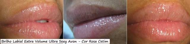 Brilho Labial Extra Volume Ultra Sexy Avon - Cor: Rosa Cetim | Foto: Conversa de Menina