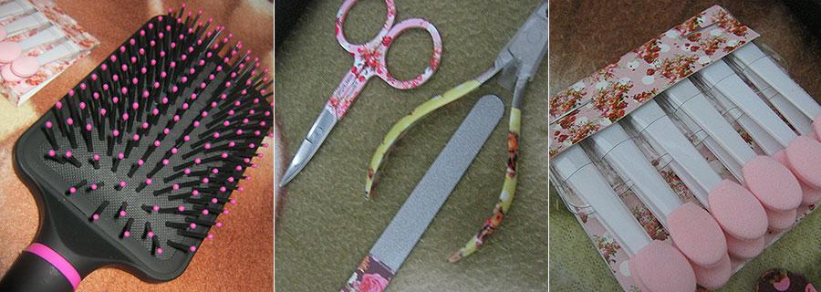 Kit de produtos de unha, make e cabelo Manoella | foto: conversa de menina