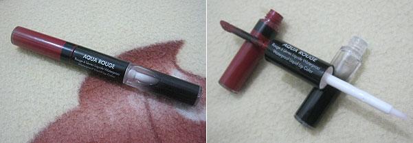 Batom e Brilho Aqua Rouge Waterproof Make Up For Ever - Cor 09 Burgundy | foto: conversa de menina